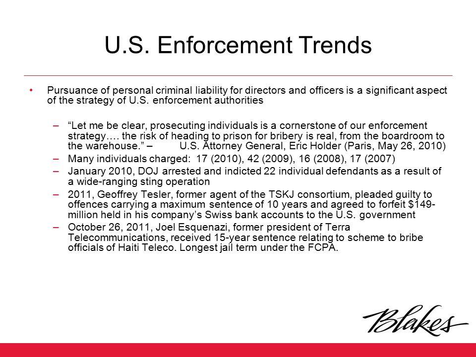 U.S. Enforcement Trends