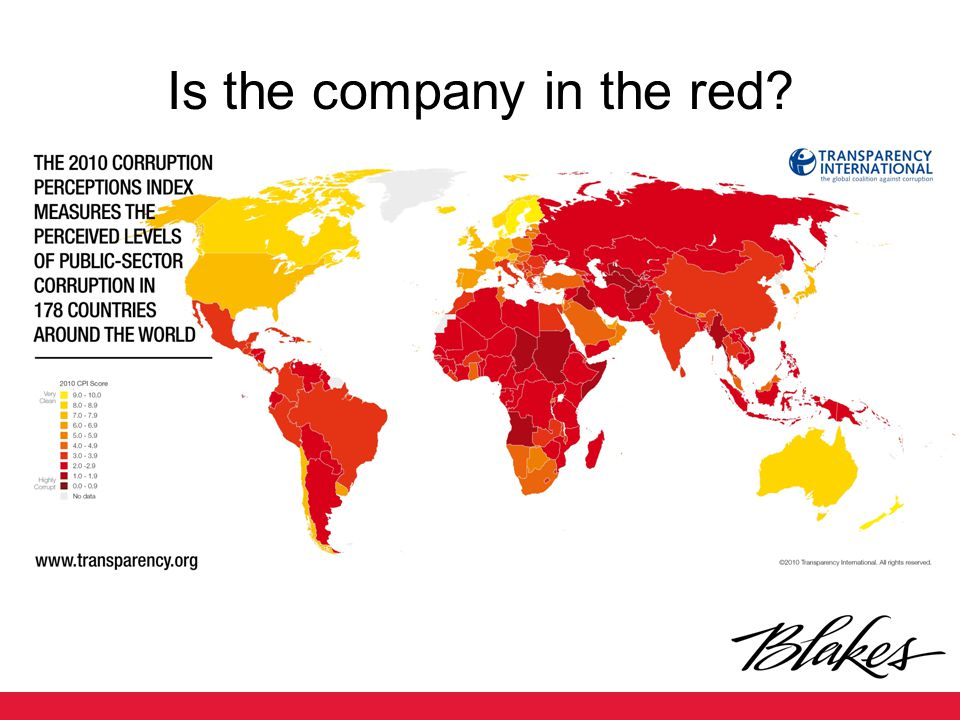 Is the company in the red