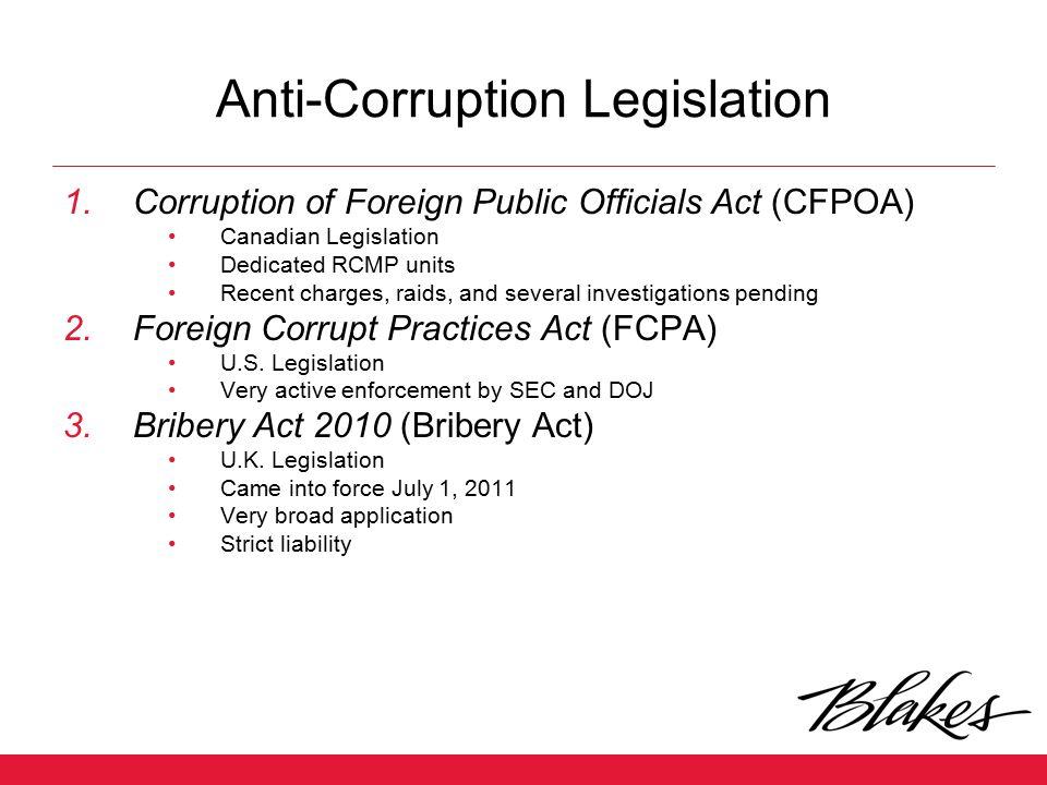 Anti-Corruption Legislation