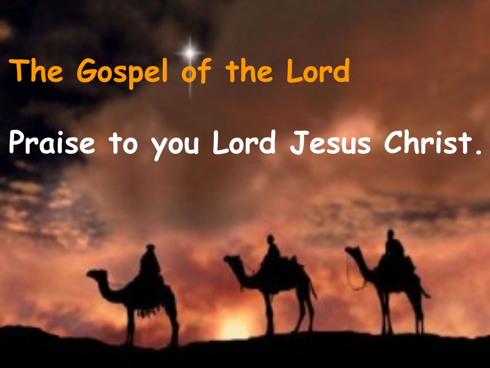 The Gospel of the Lord Praise to you Lord Jesus Christ.