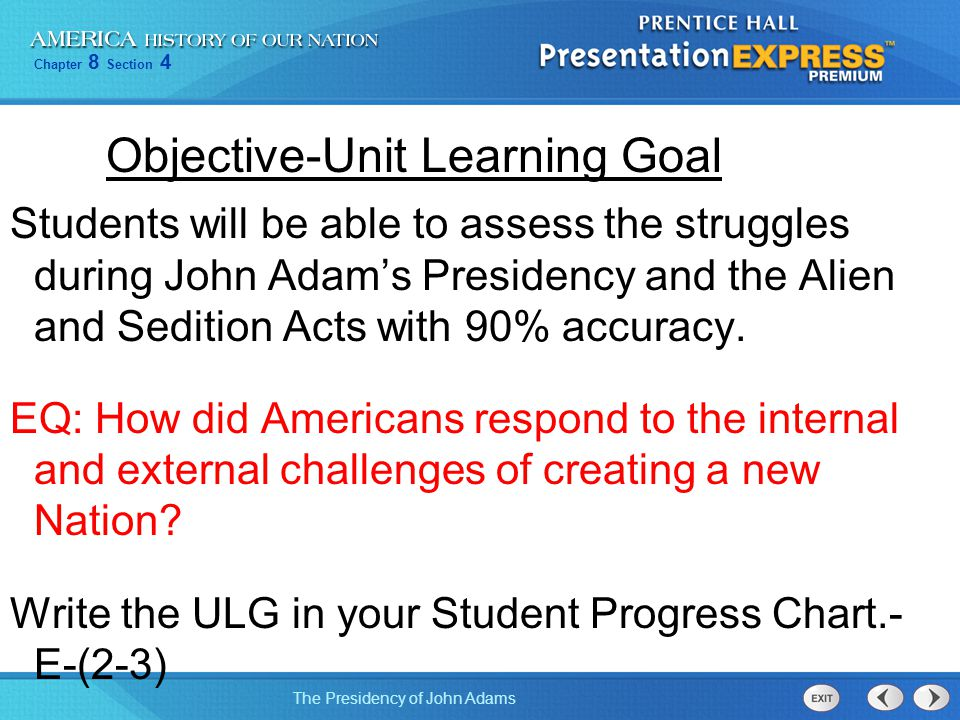 Objective-Unit Learning Goal