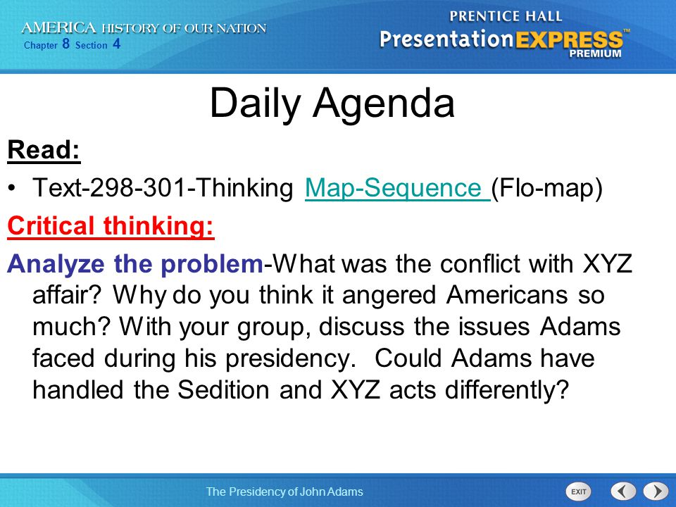 Daily Agenda Read: Text-298-301-Thinking Map-Sequence (Flo-map)