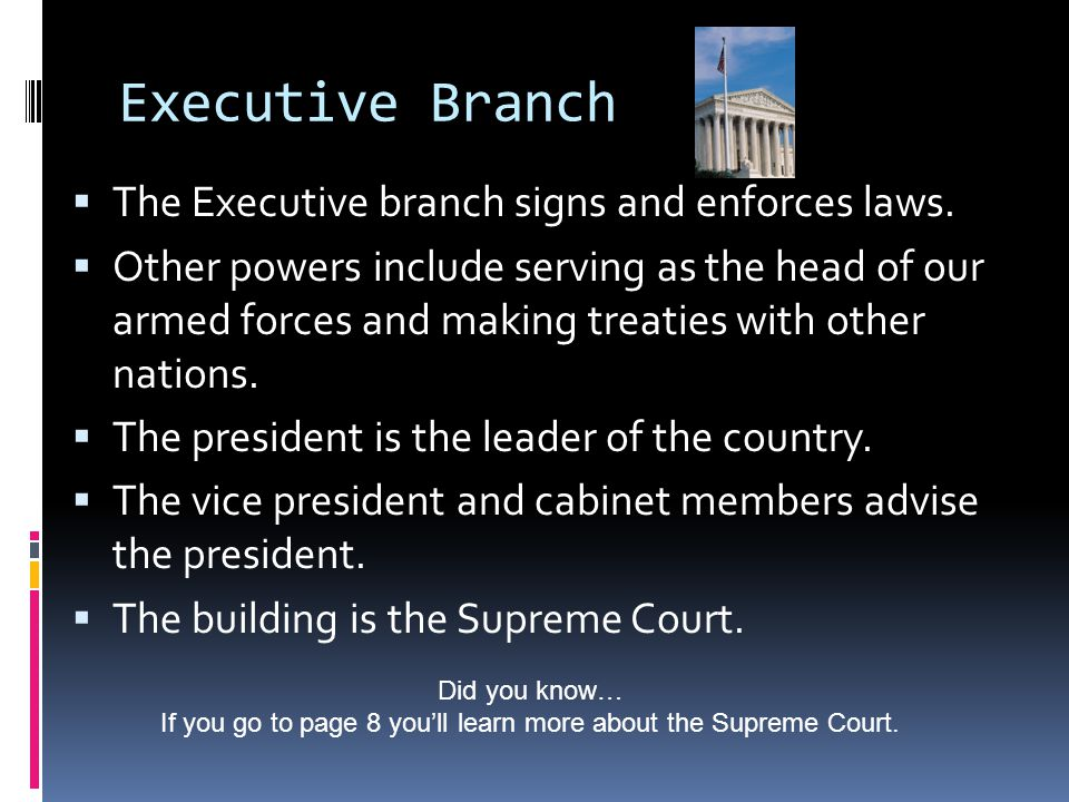 If you go to page 8 you'll learn more about the Supreme Court.