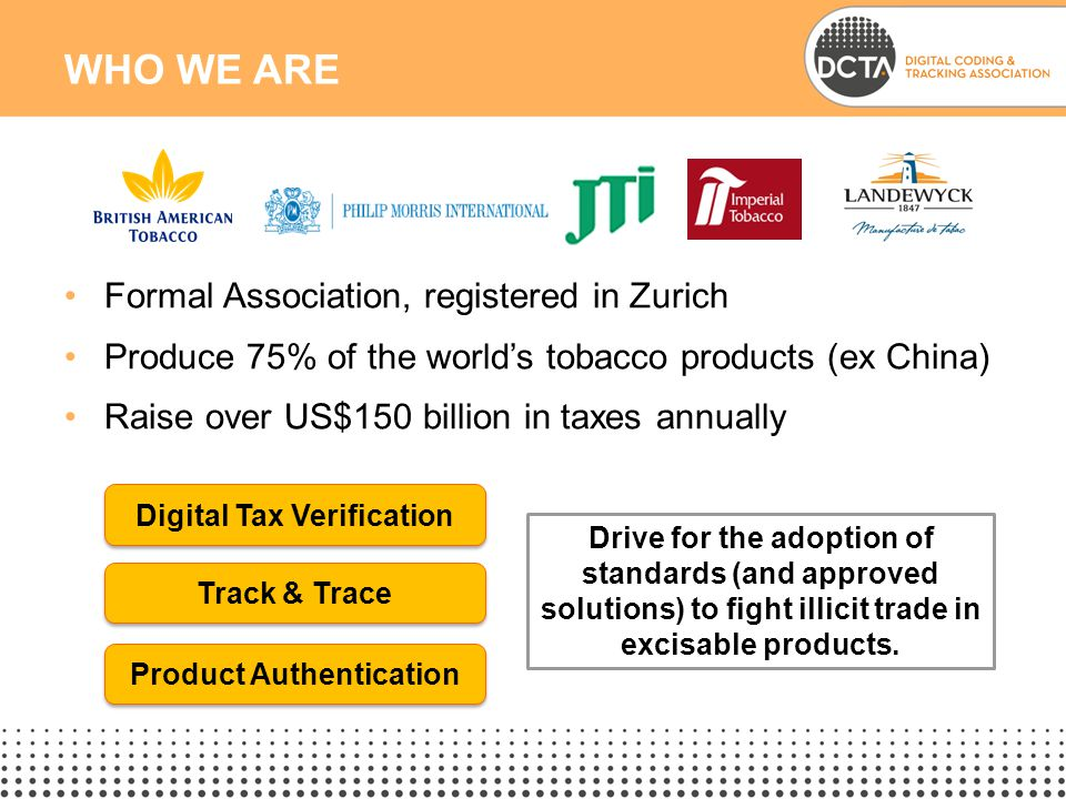Digital Tax Verification Product Authentication