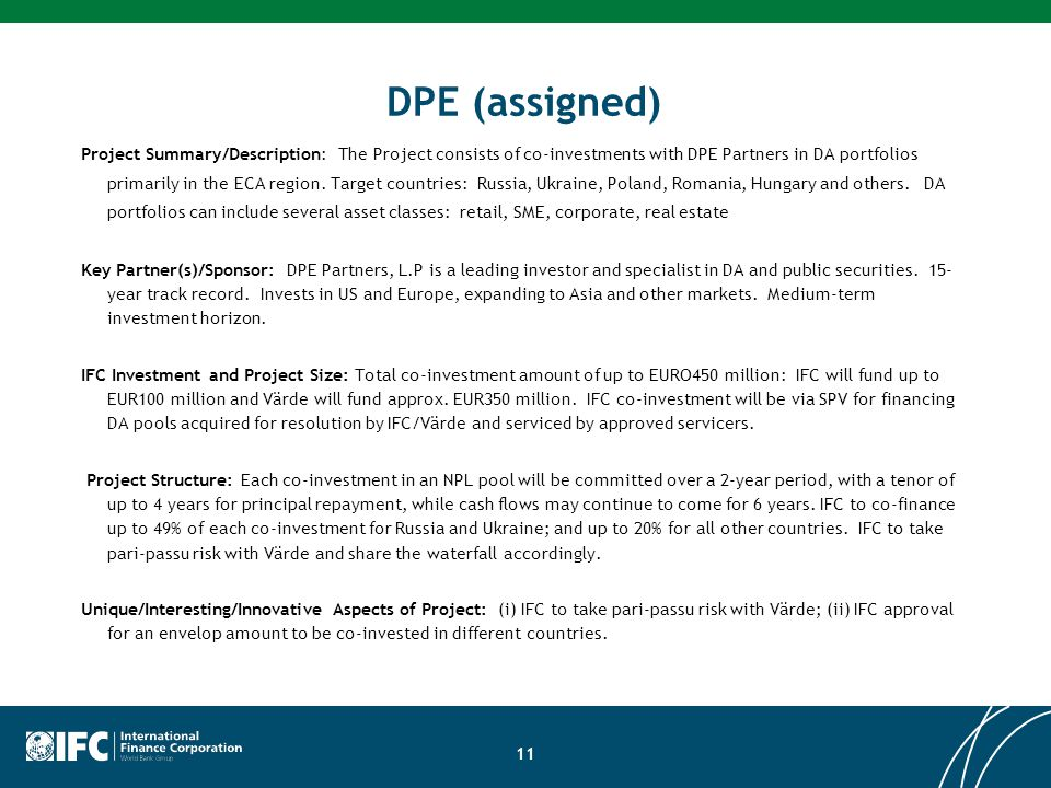 DPE (assigned)
