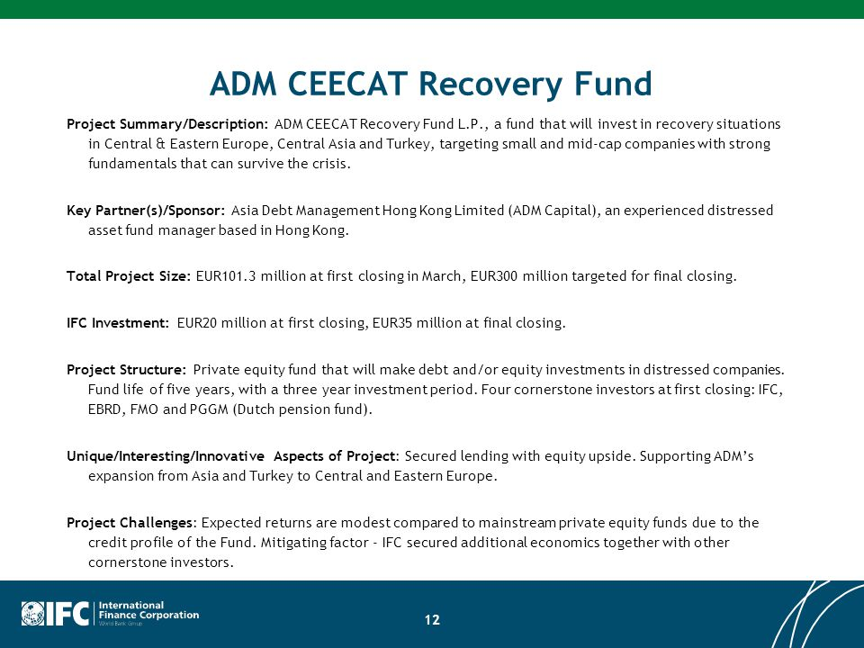 ADM CEECAT Recovery Fund