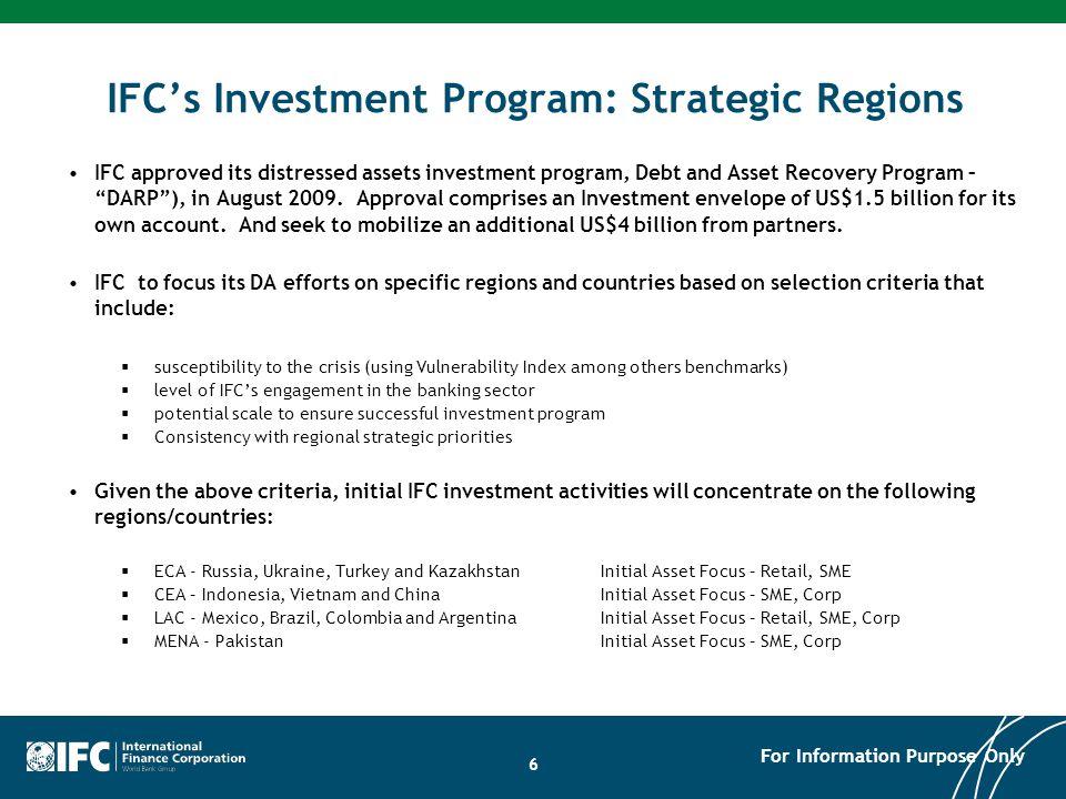 IFC's Investment Program: Strategic Regions