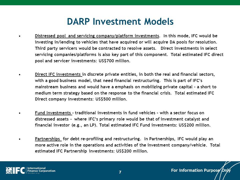 DARP Investment Models