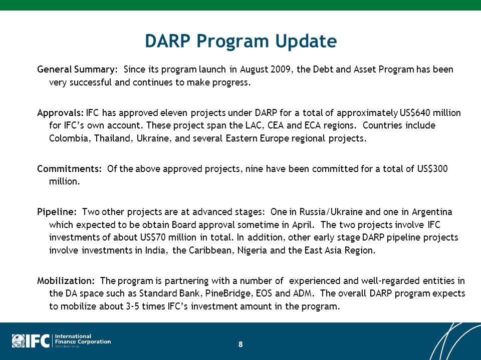 DARP Program Update