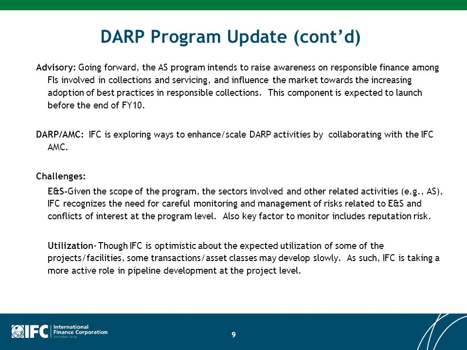 DARP Program Update (cont'd)