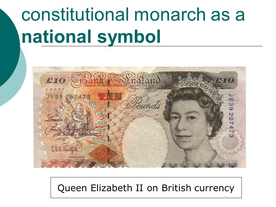 constitutional monarch as a national symbol