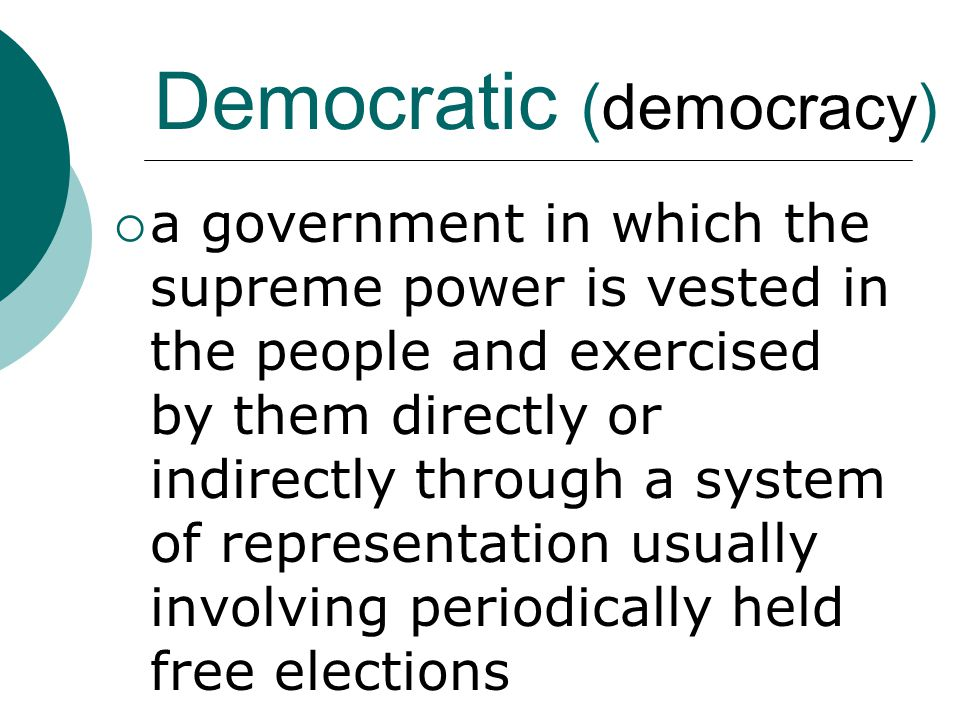 Democratic (democracy)