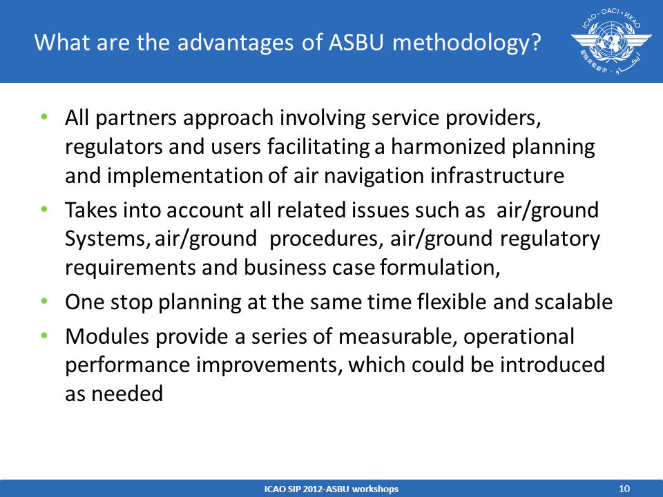 What are the advantages of ASBU methodology