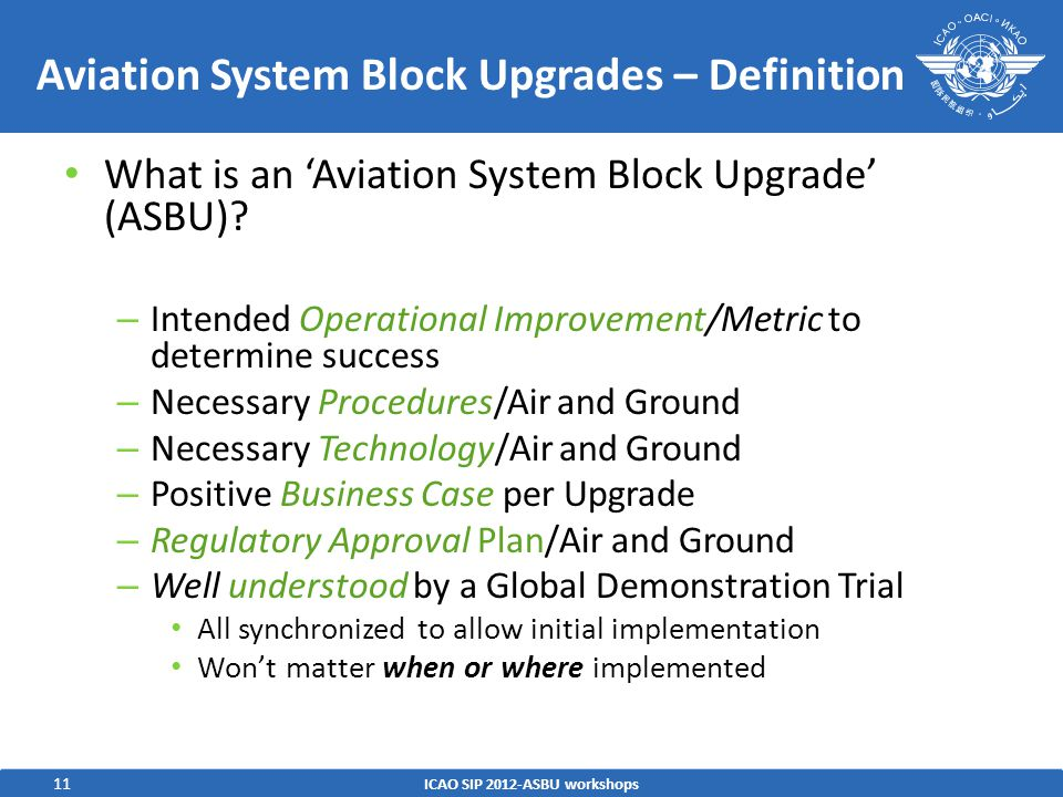 Aviation System Block Upgrades – Definition