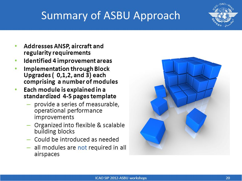 Summary of ASBU Approach