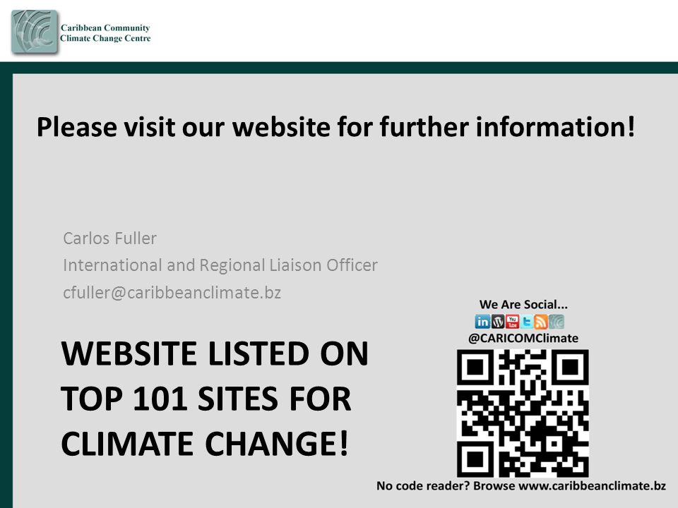 Website listed on Top 101 Sites for climate change!