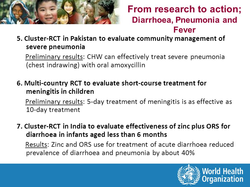 From research to action; Diarrhoea, Pneumonia and Fever