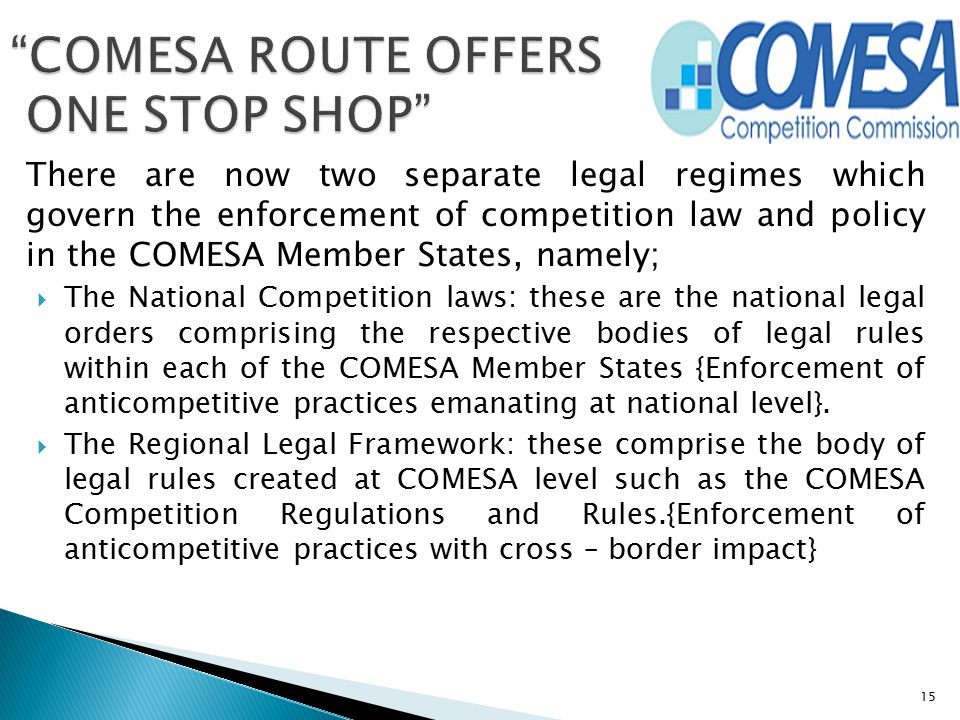 COMESA ROUTE OFFERS ONE STOP SHOP