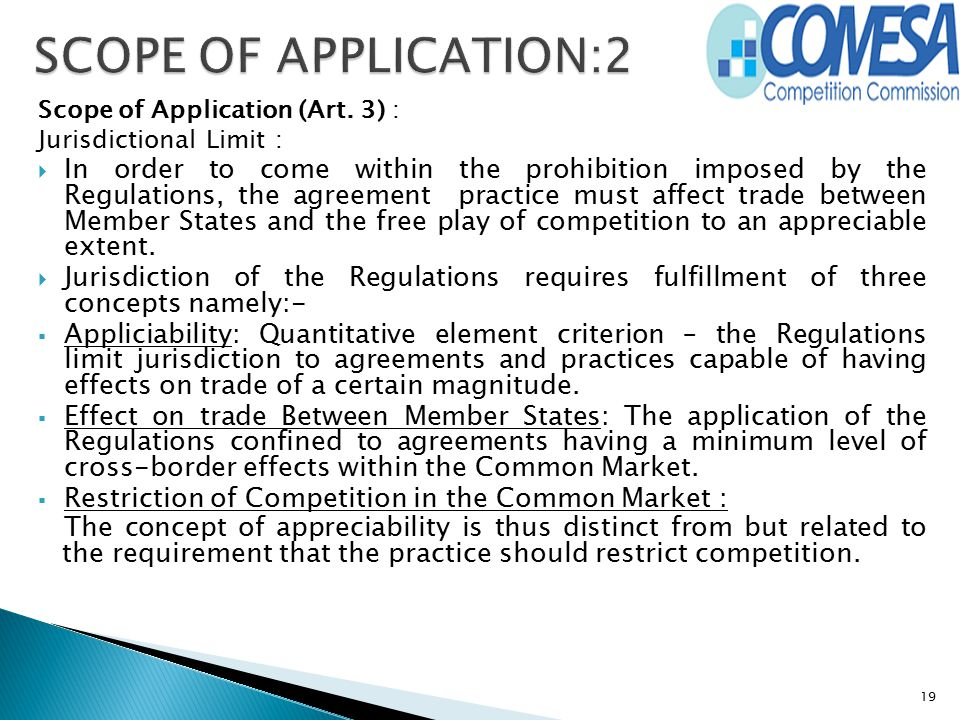 SCOPE OF APPLICATION:2 Scope of Application (Art. 3) : Jurisdictional Limit :