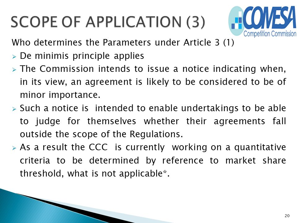SCOPE OF APPLICATION (3)