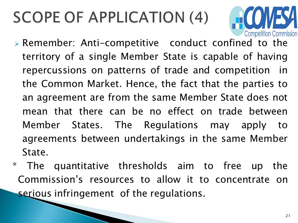 SCOPE OF APPLICATION (4)