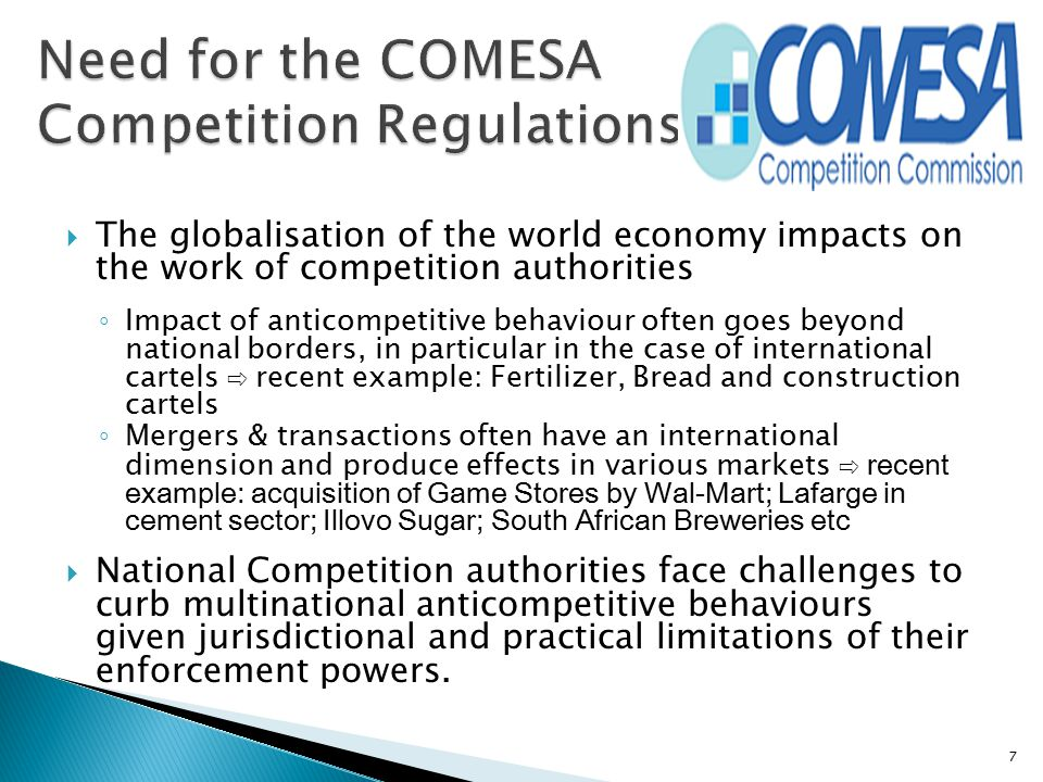 Need for the COMESA Competition Regulations