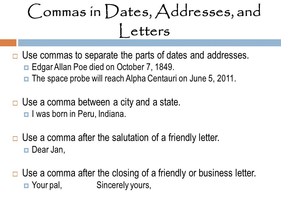Commas after dates in Perth
