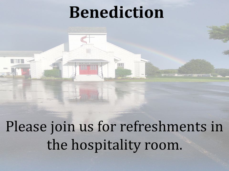 Please join us for refreshments in the hospitality room.