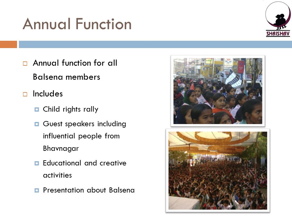 Annual Function Annual function for all Balsena members Includes