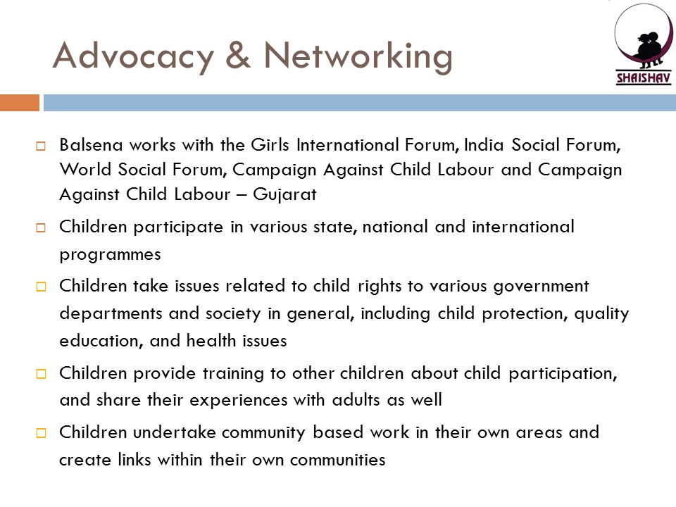 Advocacy & Networking