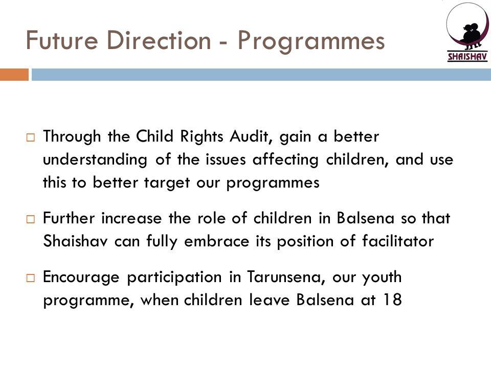 Future Direction - Programmes