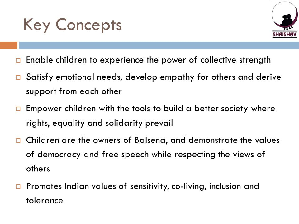 Key Concepts Enable children to experience the power of collective strength.