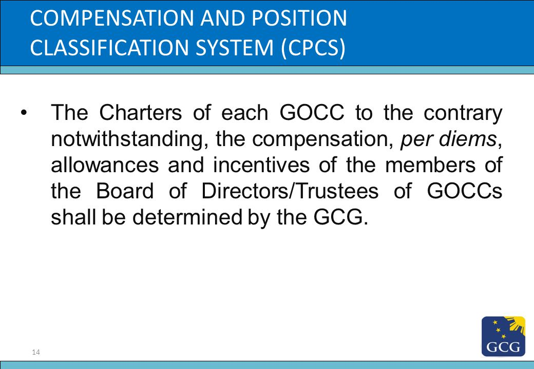 Slide Title COMPENSATION AND POSITION CLASSIFICATION SYSTEM (CPCS)