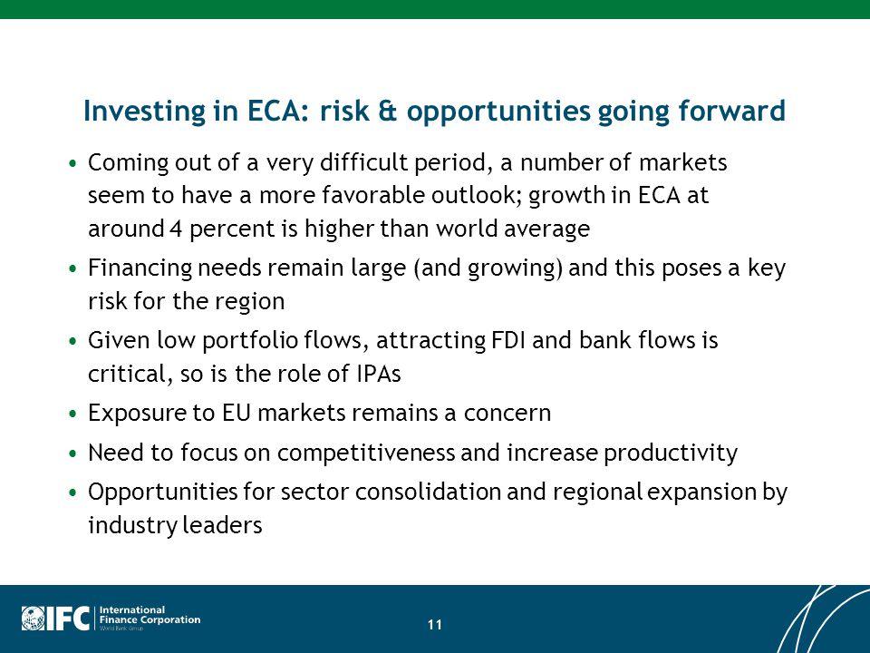 Investing in ECA: risk & opportunities going forward