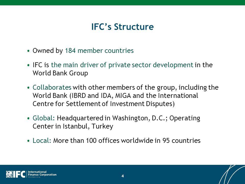 IFC's Structure Owned by 184 member countries