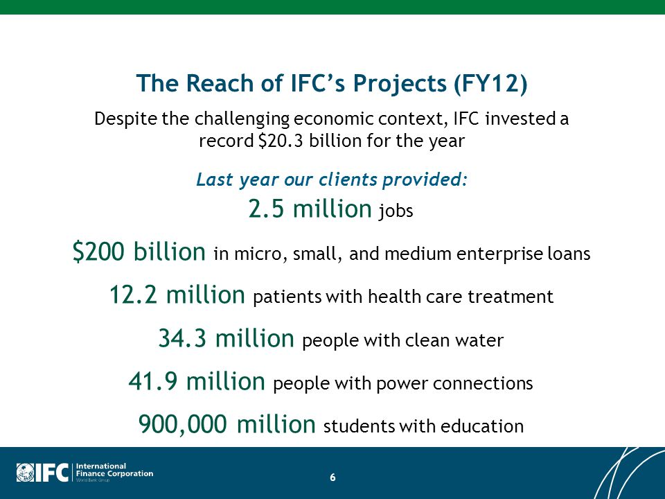 The Reach of IFC's Projects (FY12)