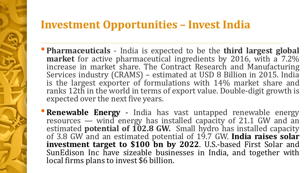 Investment Opportunities – Invest India