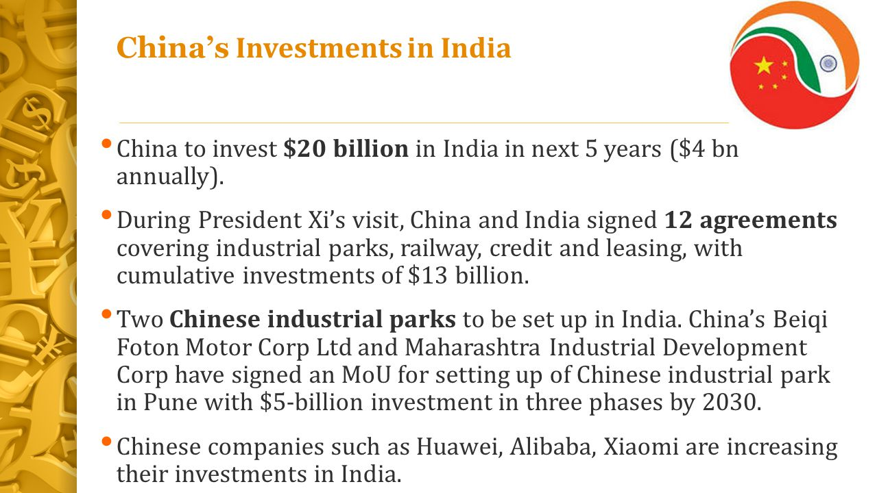 China's Investments in India