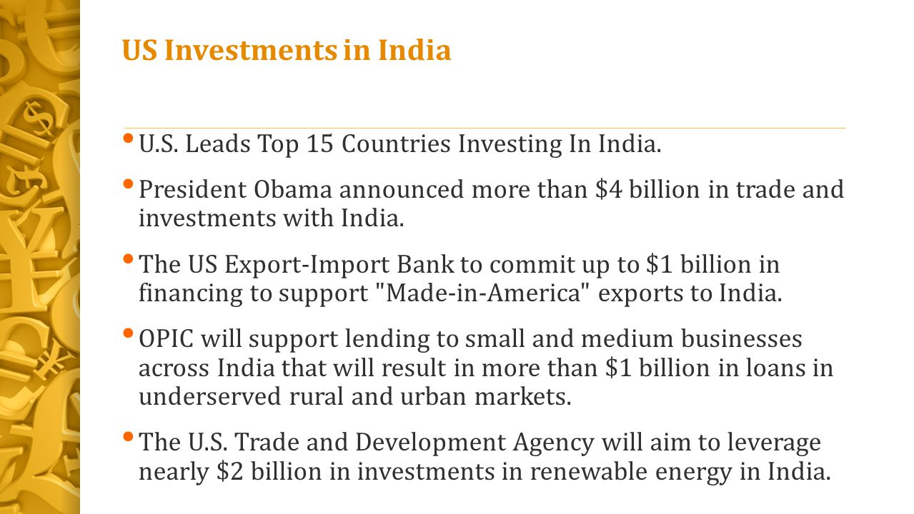 US Investments in India