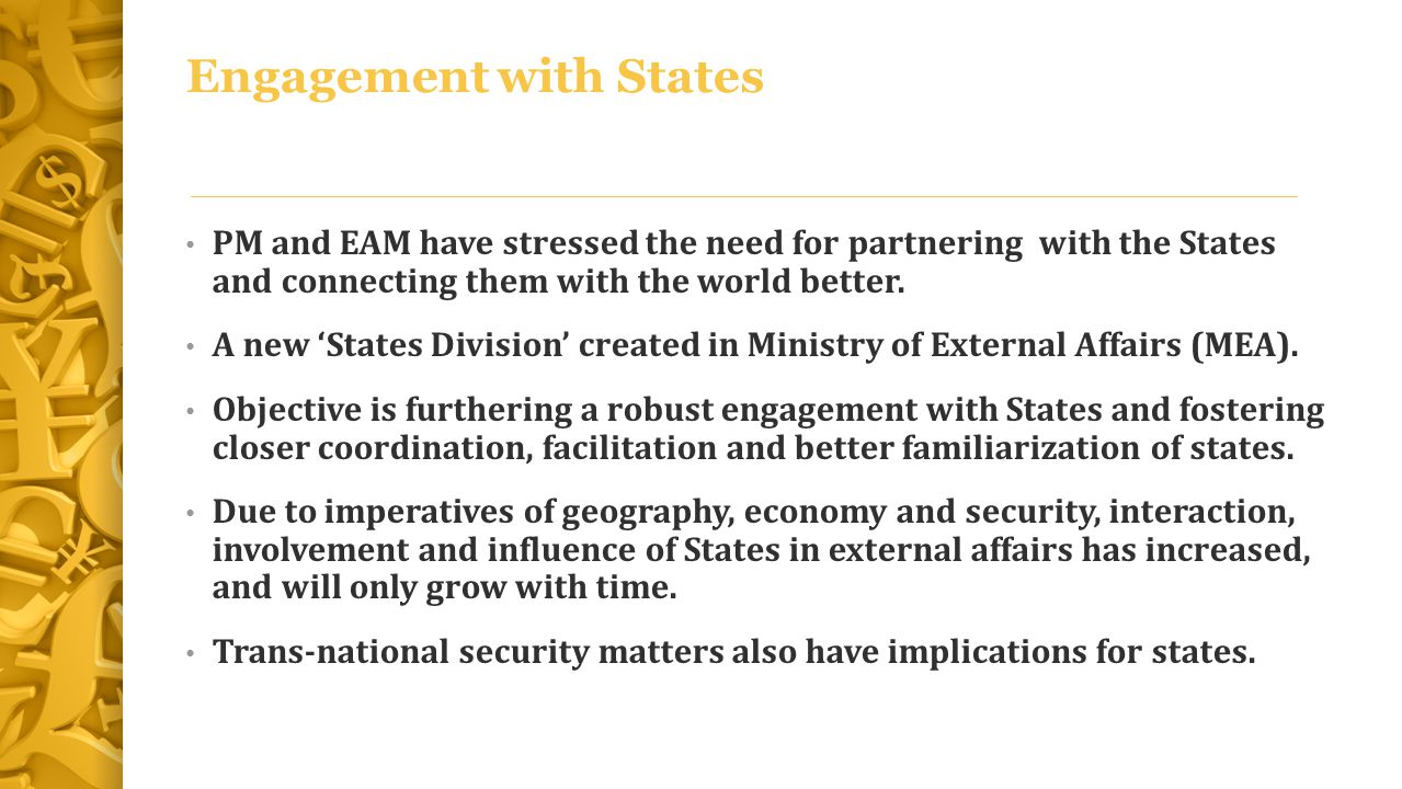 Engagement with States
