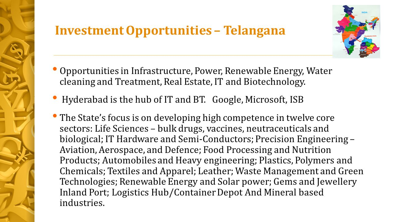Investment Opportunities – Telangana