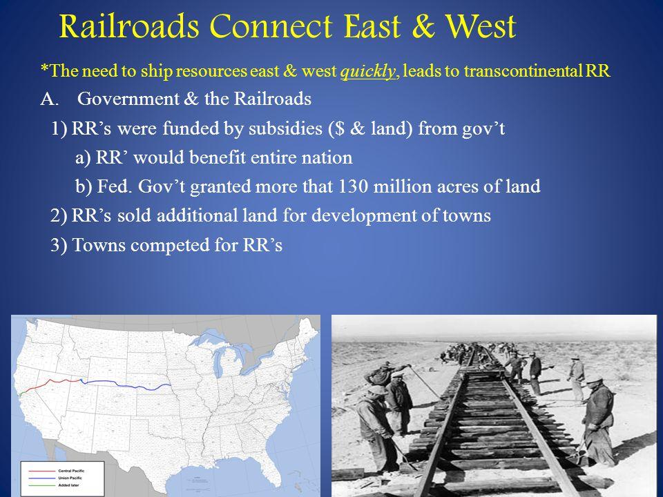 Railroads Connect East & West