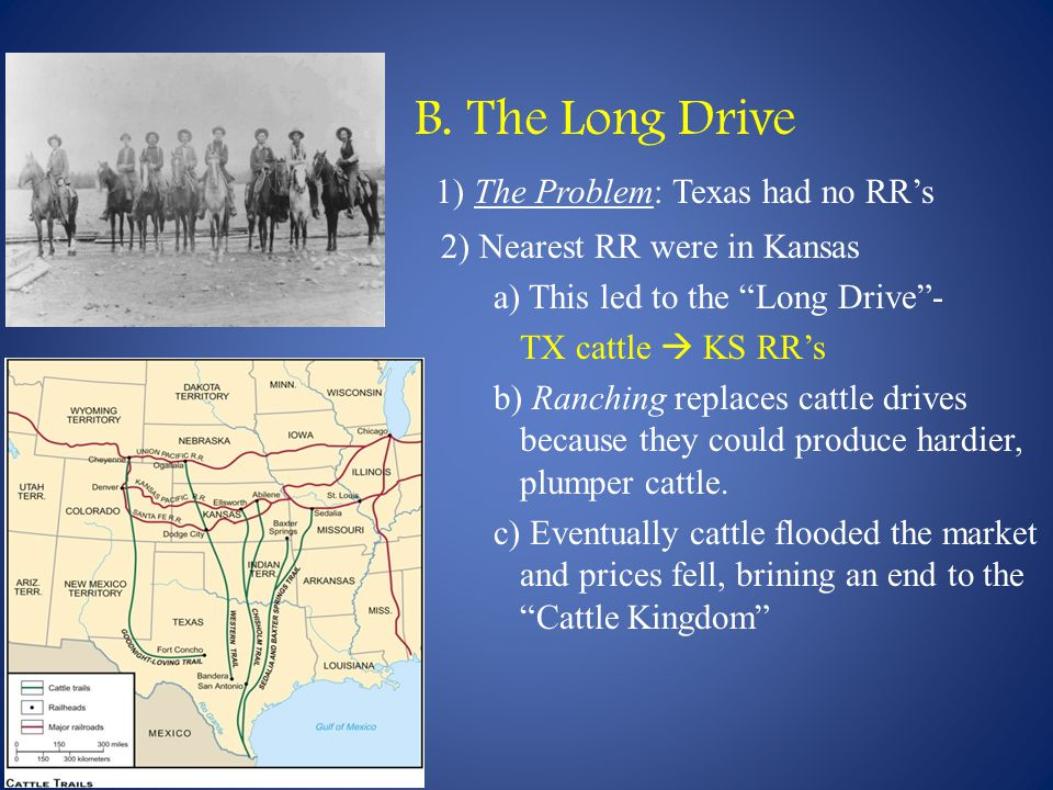 B. The Long Drive 1) The Problem: Texas had no RR's