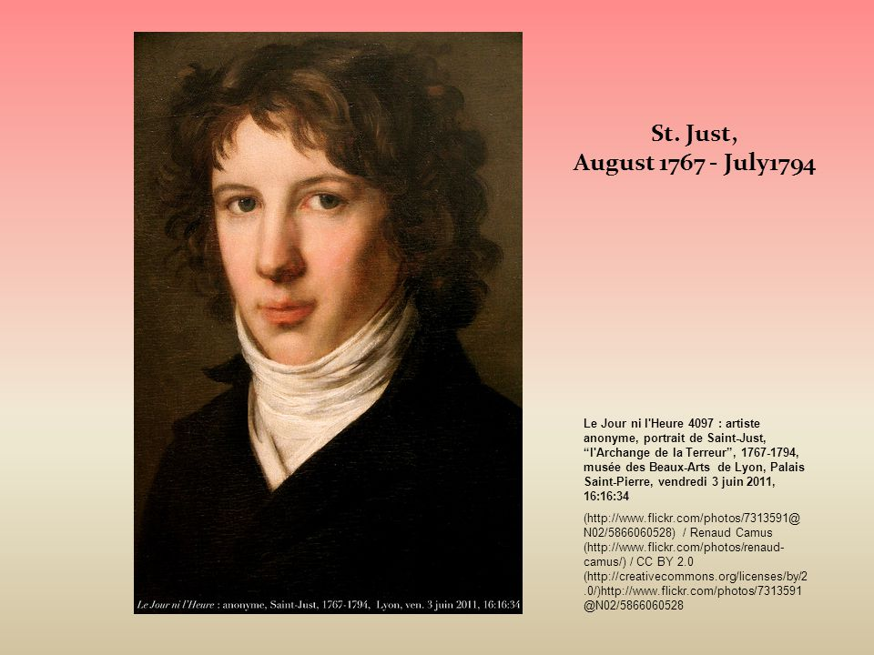 St. Just, August 1767 - July1794.