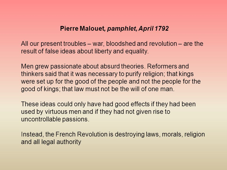 Pierre Malouet, pamphlet, April 1792