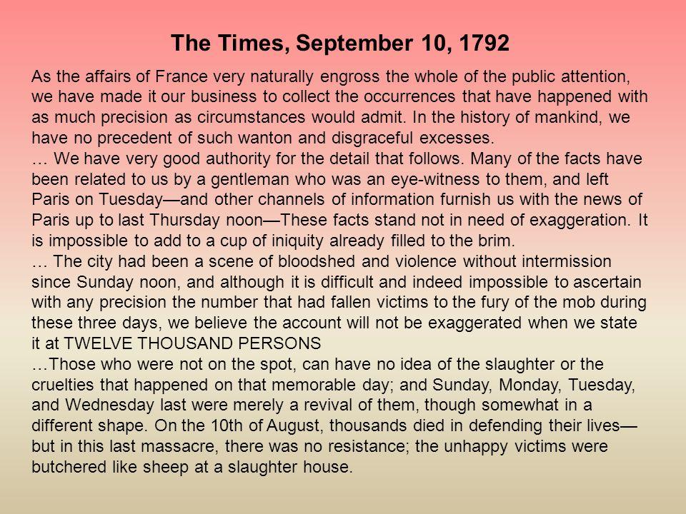 The Times, September 10, 1792