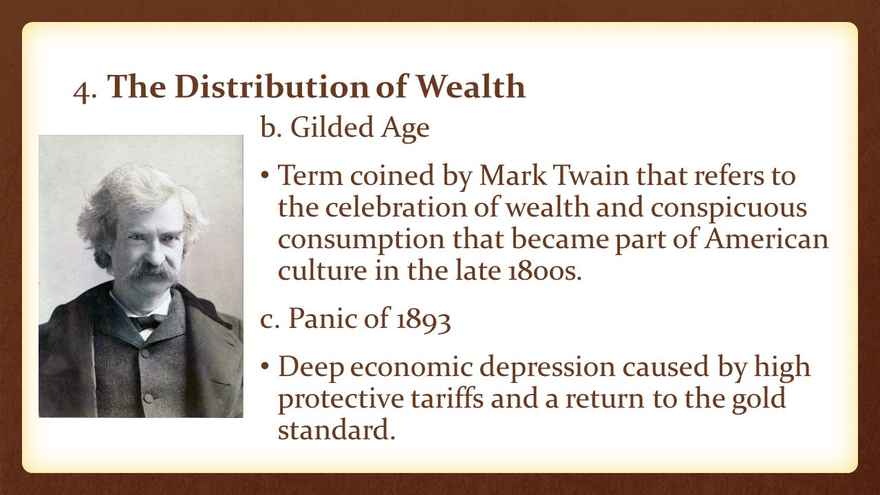 4. The Distribution of Wealth