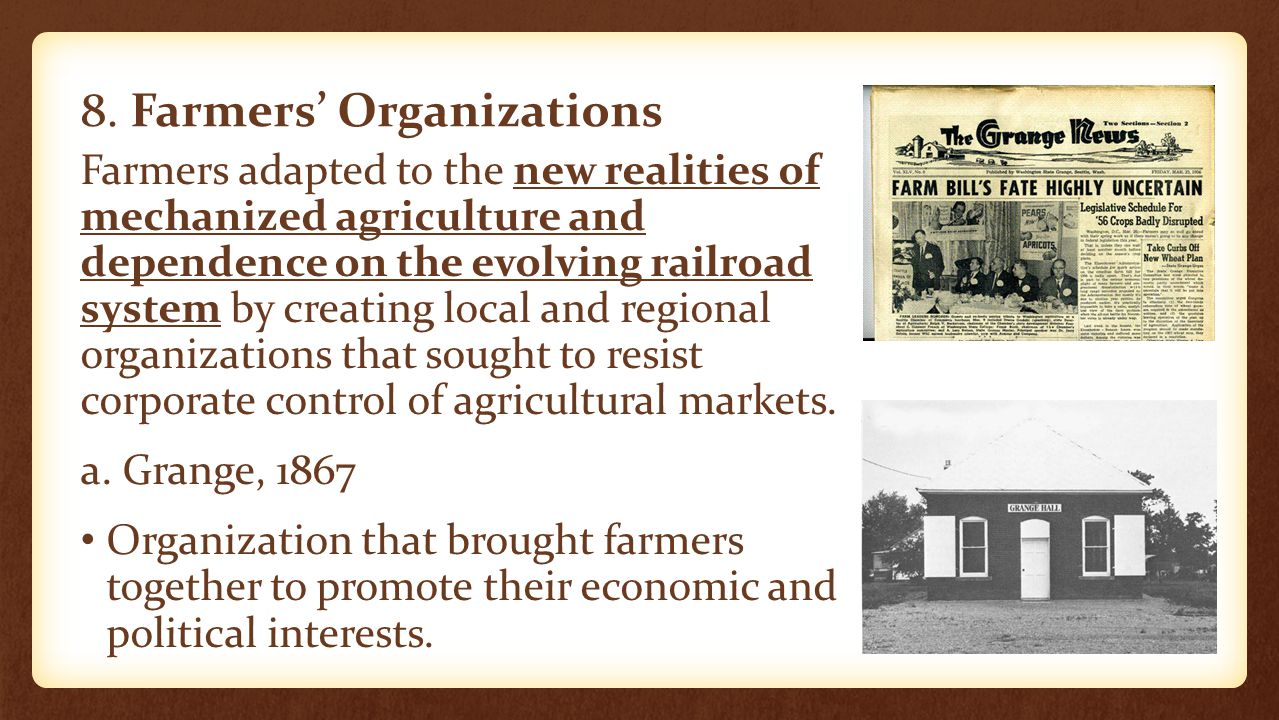 8. Farmers' Organizations