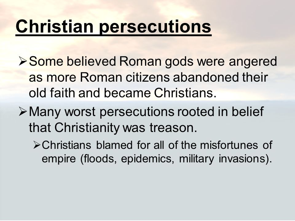 Christian persecutions