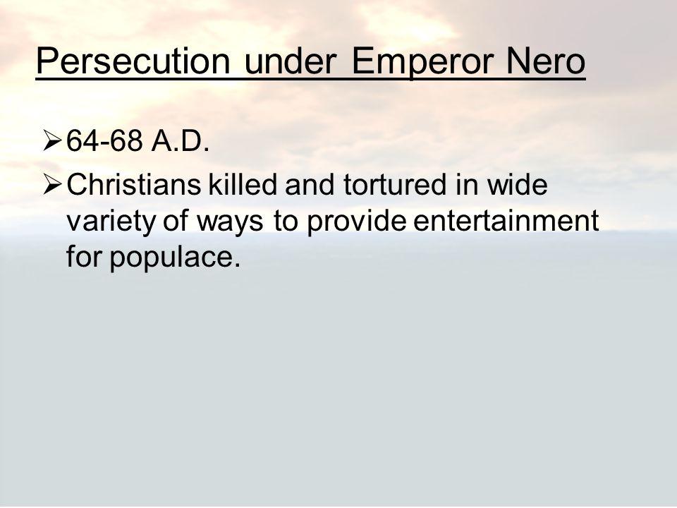 Persecution under Emperor Nero